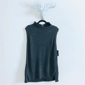SIMPLY vera | grey knit mock sweater dress • XL